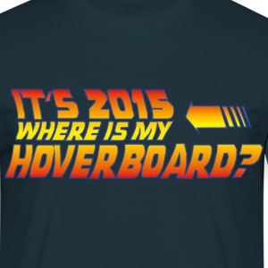 Navy Hoverboard T-shirts - Mannen T-shirt