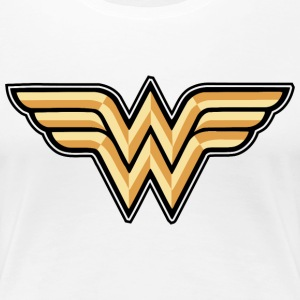 Wonder Woman Logo Dame T-Shirt - Premium T-skjorte for kvinner