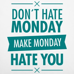 Blanco Don´t Hate Monday - Make Monday Hate You Otros - Funda de almohada 40 x 40 cm