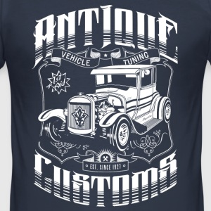 Hot Rod - Antique Customs (white) T-Shirts - Herre Slim Fit T-Shirt