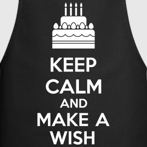 Keep Calm And Make A Wish Kookschorten - Keukenschort