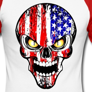 usa skull Manches longues - T-shirt baseball manches longues Homme