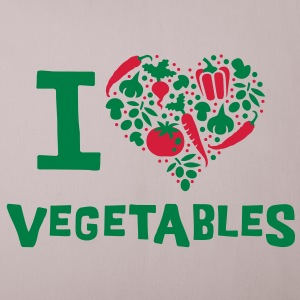 I love Vegetables - Sofa pillow cover 44 x 44 cm