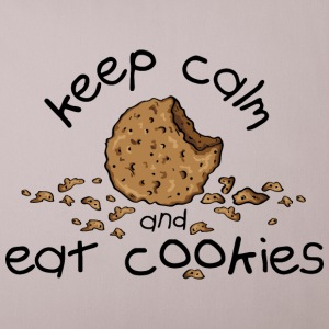 Sandgrau Keep calm and eat cookies Sonstige - Sofakissenbezug 44 x 44 cm