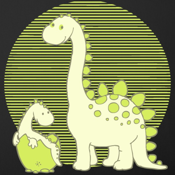 dinosaur family - Sofa pillow cover 44 x 44 cm
