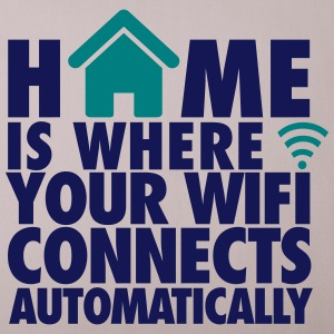 Sandgrau Home is where your wifi connects automatically Sonstige - Sofakissenbezug 44 x 44 cm