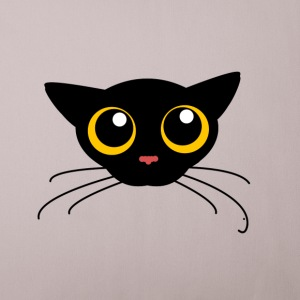 cat with hugh eyes - Sofa pillow cover 44 x 44 cm