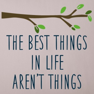 The best things in life - Sofa pillow cover 44 x 44 cm