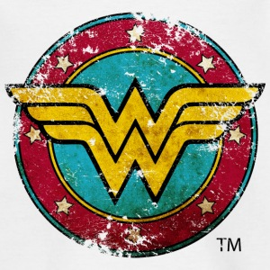 Wonder Woman Logo Distressed Tonåring T-Shirt - T-shirt tonåring
