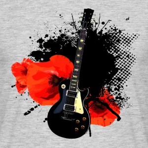 Shirt Trash Polka Ink Guitar Grau - Männer T-Shirt