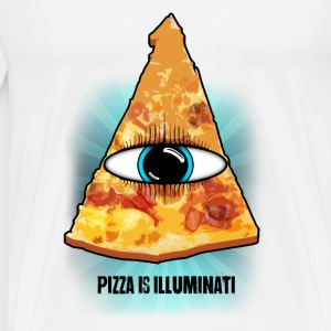 illuminati Pizza - Men's Premium T-Shirt