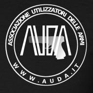 ~ t-shirt con logo AUDA e Glock (bianco per capi scuri)