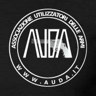 ~ t-shirt con logo auda e revolver (bianco per capi scuri)