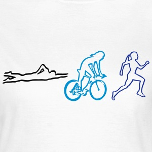 triathlon - woman T-shirts - Dame-T-shirt
