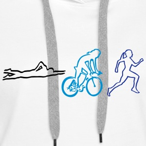 triathlon - woman Hoodies & Sweatshirts - Women's Premium Hoodie
