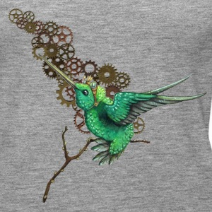 Heather grey Steampunk Hummingbird Tops - Women's Premium Tank Top