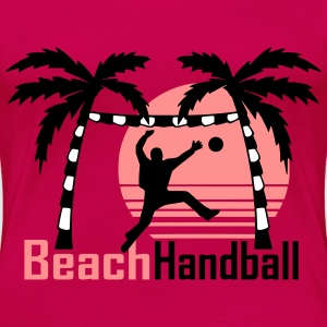 Handball Beach Palmentorwart T-Shirts - Frauen Premium T-Shirt