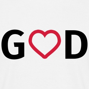 God is liefde T-shirts - Mannen T-shirt