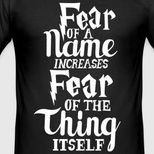 Harry Potter Fear T-Shirts - Männer Slim Fit T-Shirt