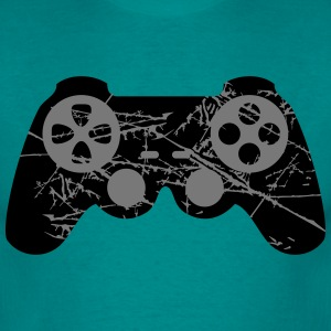scratches cracks old design cool controller T-Shirts - Men's T-Shirt