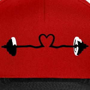 weightlifting - barbell and heart Cappelli & Berretti - Snapback Cap