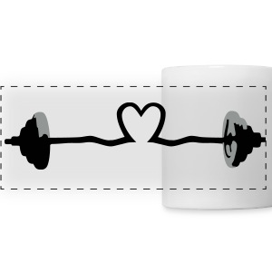 weightlifting - barbell and heart Tazze & Accessori - Tazza con vista