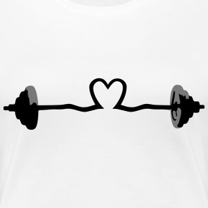 weightlifting - barbell and heart Magliette - Maglietta Premium da donna