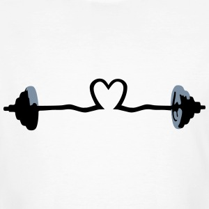 weightlifting - barbell and heart T-Shirts - Men's Organic T-shirt