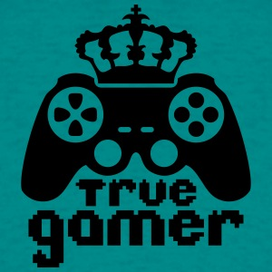 King Crown true gamer controller logo King 8 bit T-Shirts - Men's T-Shirt
