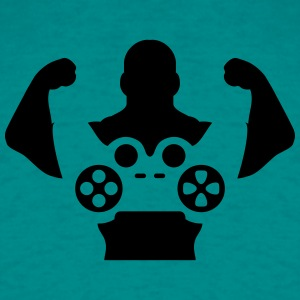 Hero muscles strong controller arms gamer T-Shirts - Men's T-Shirt