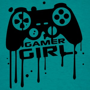 Gamer girl girls women female graffiti controller  T-Shirts - Men's T-Shirt