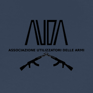 ~ Maglietta Premium con logo AUDA e ak incrociati (per capi chiari)