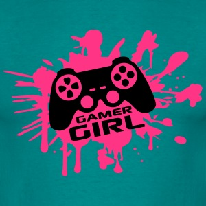Gamer girl girls woman controller blood spatter dr T-Shirts - Men's T-Shirt
