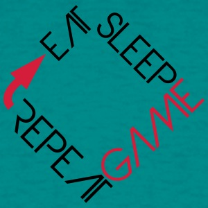 eat sleep game repeat text logo  T-Shirts - Männer T-Shirt