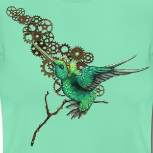 Deep mint Steampunk Hummingbird T-Shirts - Women's T-Shirt