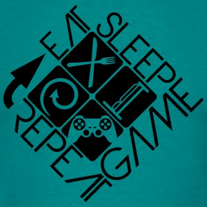 eat sleep game repeat controller logo T-Shirts - Men's T-Shirt