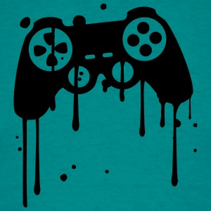 controller graffiti drip klex color splash T-Shirts - Men's T-Shirt