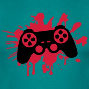 controller blood spatter drip graffiti klex T-Shirts - Men's T-Shirt