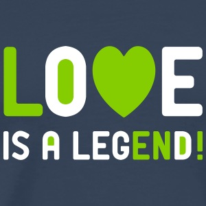 Love is a legend Liebe Amor Single Valentinstag T-Shirts - Männer Premium T-Shirt