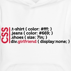 CSS jokes - many clothes, but not girlfriend! Hoodies - Kids' Premium Hoodie