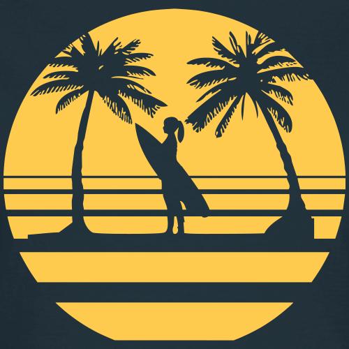 Surfer Girl mit Palmen