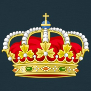royal crown heraldry king Camisetas - Camiseta hombre