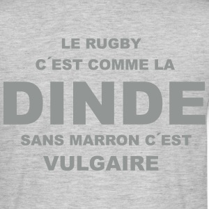 rugby_dinde Tee shirts - T-shirt Homme