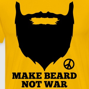 Make beard not war - Mannen Premium T-shirt