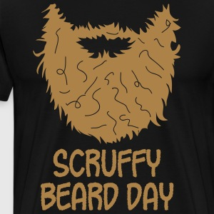 Scruffy beard day - Mannen Premium T-shirt