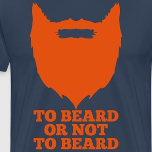 To beard or not to beard - Mannen Premium T-shirt