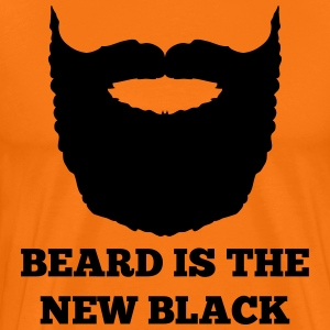 Beard is the new Black - Mannen Premium T-shirt