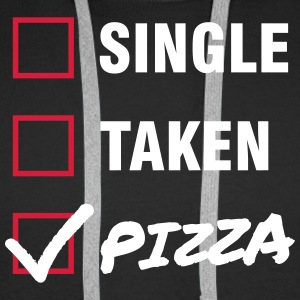 Single / Taken / Pizza - Funny & Cool Statment Sweat-shirts - Sweat-shirt à capuche Premium pour hommes
