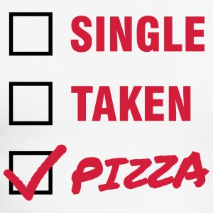 Single / Taken / Pizza - Funny & Cool Statment Manches longues - T-shirt baseball manches longues Homme