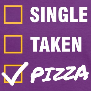 Single / Taken / Pizza - Funny & Cool Statment T-shirts - Vrouwen contrastshirt